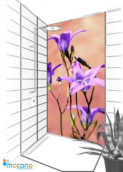 Duschrückwand Blumenzauber 153 - 90x210cm - Wohnbeispiel