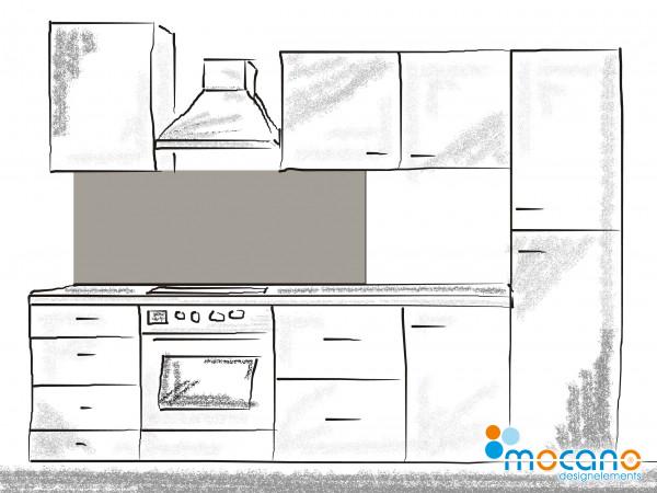 Küchenrückwand Mittel Grau einfarbig UNI 150x60cm - Wohnbeispiel