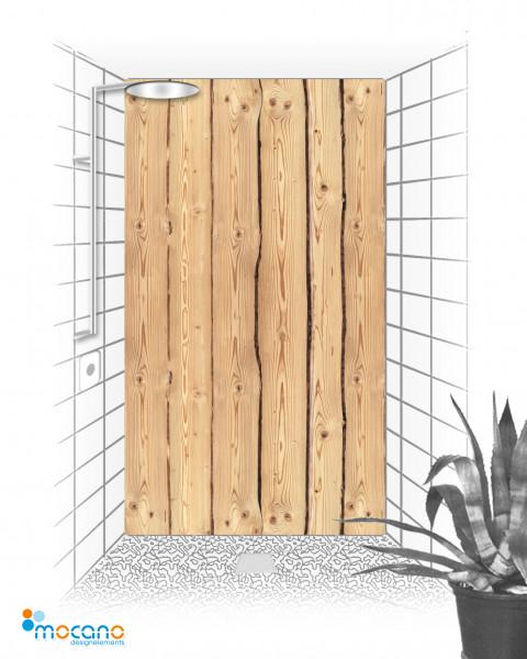Duschrückwand Holzoptik Rustikal 120x210cm - Wohnbeispiel
