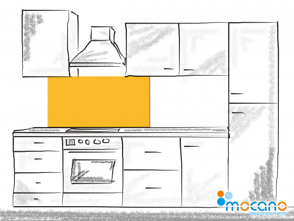Küchenrückwand Gold Gelb einfarbig UNI 120x60cm - Wohnbeispiel