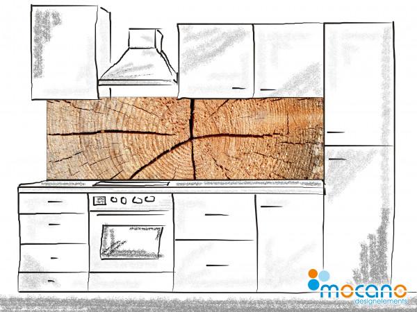 Küchenrückwand Holzstruktur Fichte 200x60cm - Wohnbeispiel