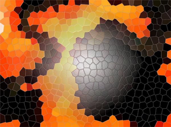 Fototapete Fantasie Mosaik