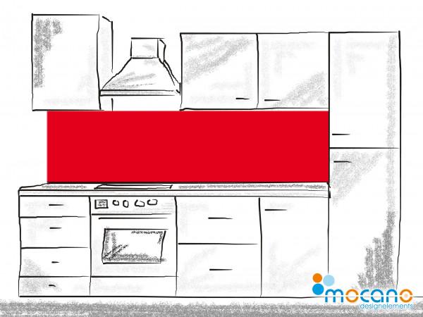 Küchenrückwand Rot einfarbig UNI 200x60cm - Wohnbeispiel