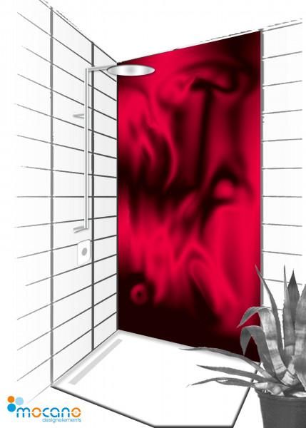Duschrückwand Hot Lawa 90x210cm - Wohnbeispiel