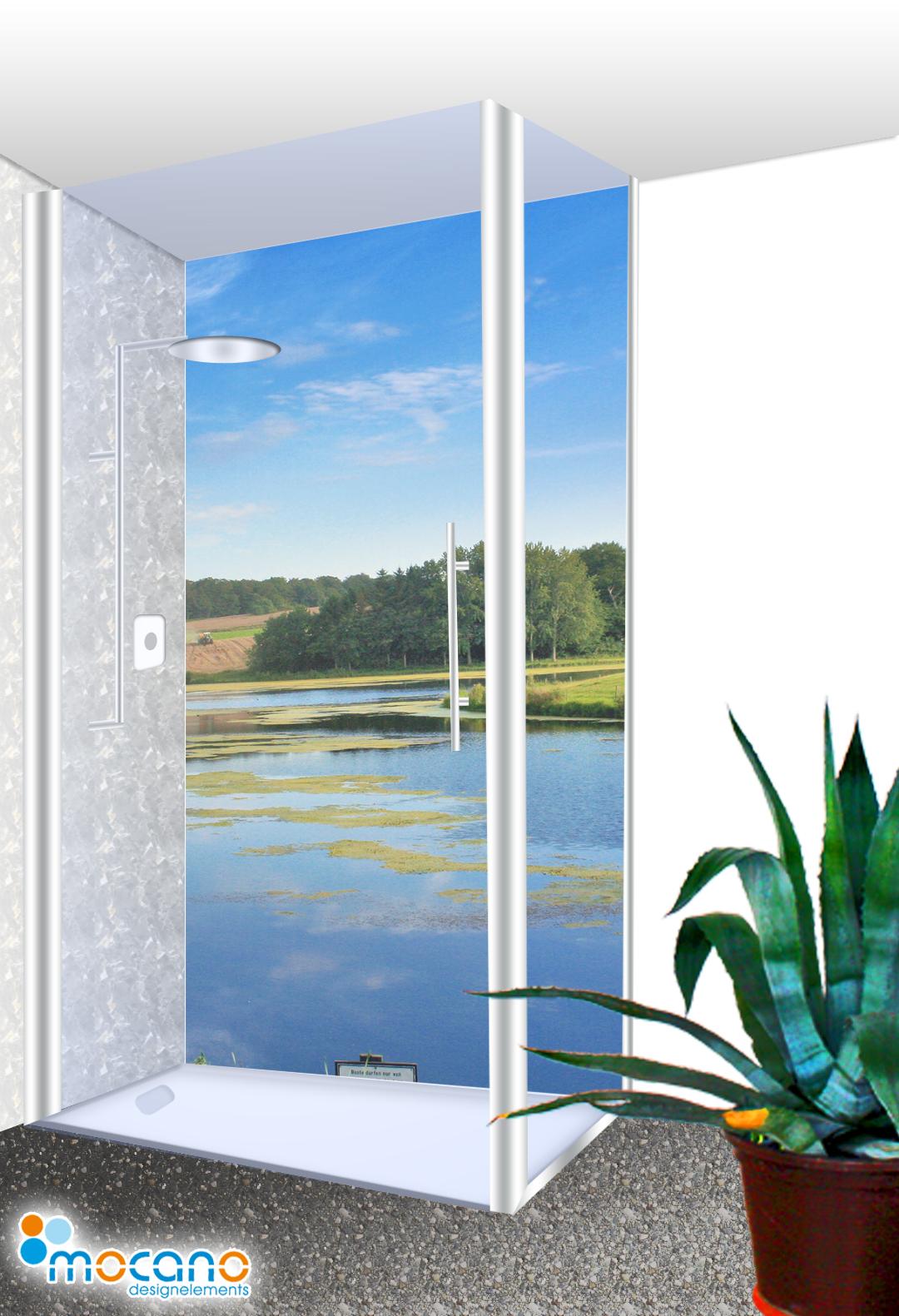 seelandschaft 177 duschr ckwand 100x210cm 100x210cm motive duschr ckwand mocano. Black Bedroom Furniture Sets. Home Design Ideas