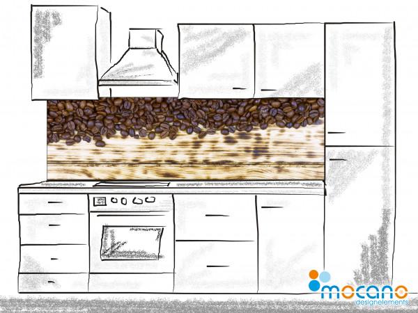 Küchenrückwand Kaffee rustikal 200x60cm - Wohnbeispiel
