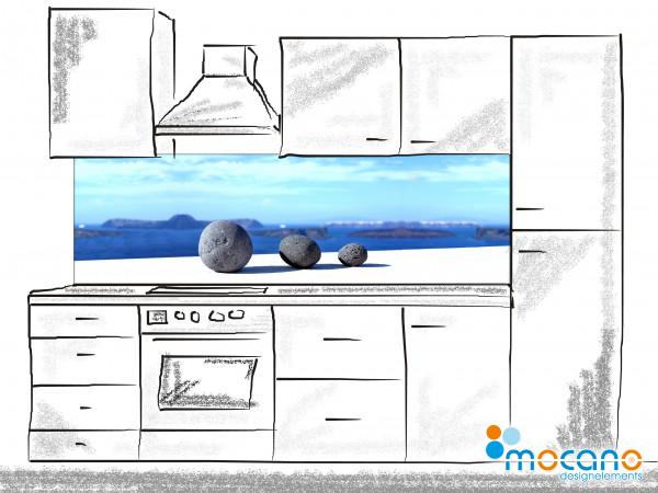 Küchenrückwand Steine Santorini - 200x60cm Wohnbeispiel