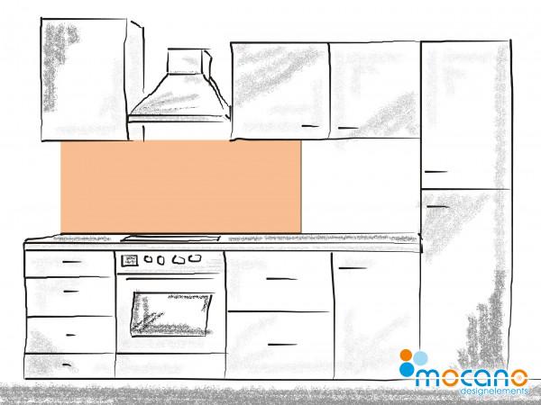Küchenrückwand Salmon einfarbig UNI 150x50cm - Wohnbeispiel