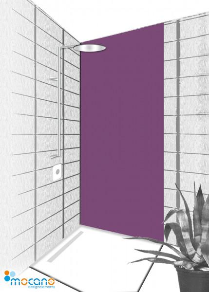Duschrückwand Lavendel 80x210cm einfarbig UNI - Wohnbeispiel