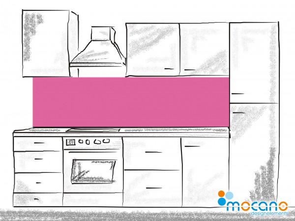 Küchenrückwand Magenta einfarbig UNI 200x50cm - Wohnbeispiel