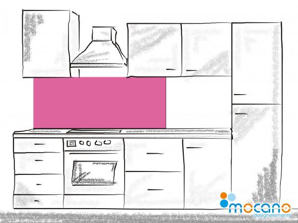 Küchenrückwand Magenta einfarbig UNI 150x60cm - Wohnbeispiel