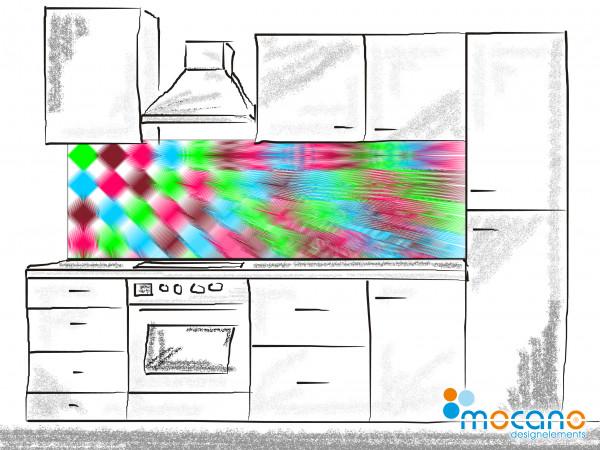 Küchenrückwand Zeitreise - 200x60cm Wohnbeispiel