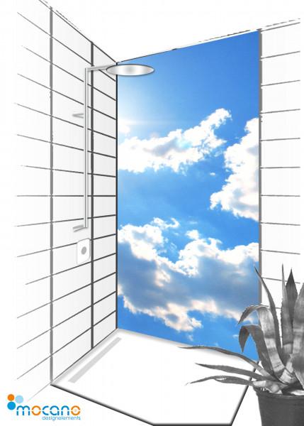 Duschrückwand Panorama Sky 90x210cm - Wohnbeispiel