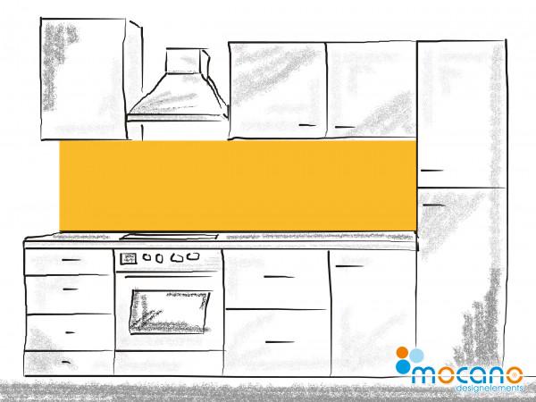 Küchenrückwand Gold Gelb einfarbig UNI 200x50cm - Wohnbeispiel
