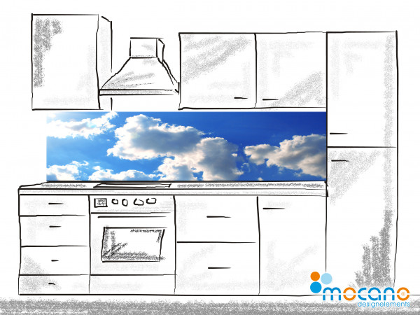 Küchenrückwand Panorama Sky 200x50cm - Wohnbeispiel