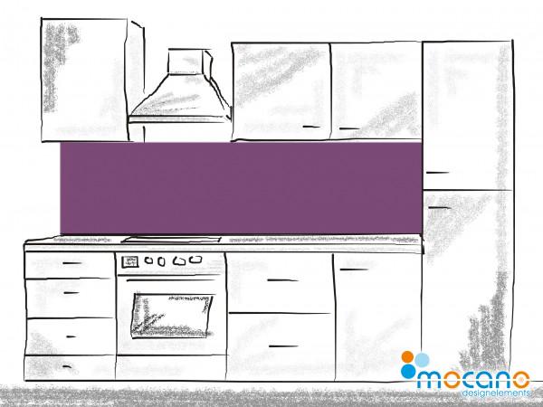 Küchenrückwand Lavendel einfarbig UNI 200x50cm - Wohnbeispiel
