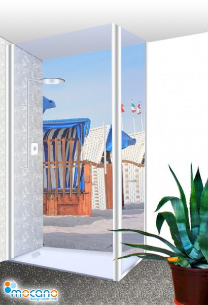 Duschrückwand - Strandkörbe 21 Wohnbeispiel