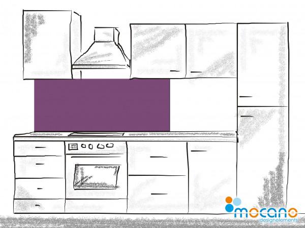 Küchenrückwand Lavendel einfarbig UNI 150x50cm - Wohnbeispiel
