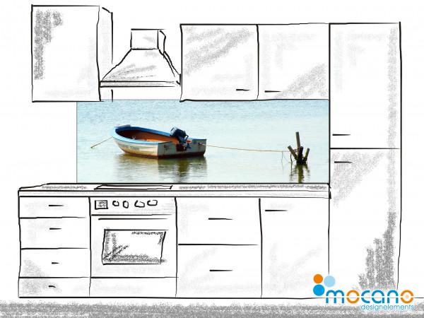 Küchenrückwand Boat Trip 180x60cm - Wohnbeispiel