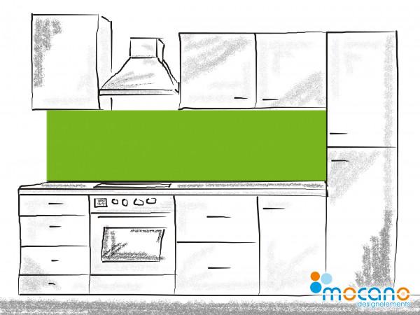 Küchenrückwand Frühlingsgrün einfarbig UNI 200x60cm - Wohnbeispiel