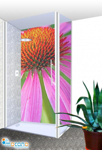 Duschrückwand - Flower 50 Wohnbeispiel
