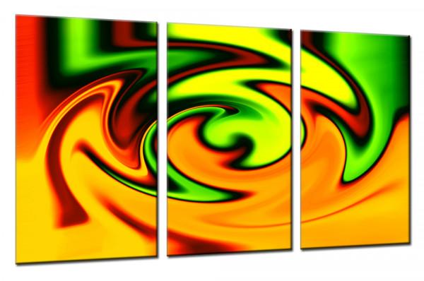 Yellow Twister - Mehrteiliges Leinwandbild
