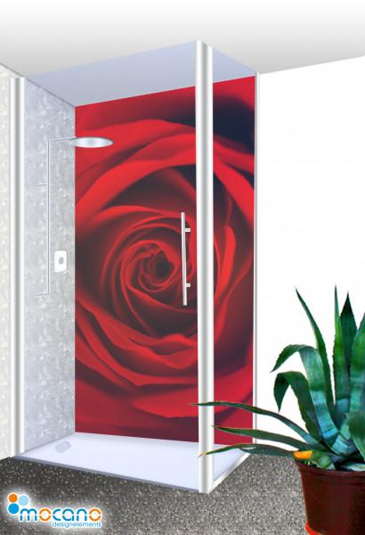 Duschrückwand - Red Dreaming Rose 150 Wohnbeispiel