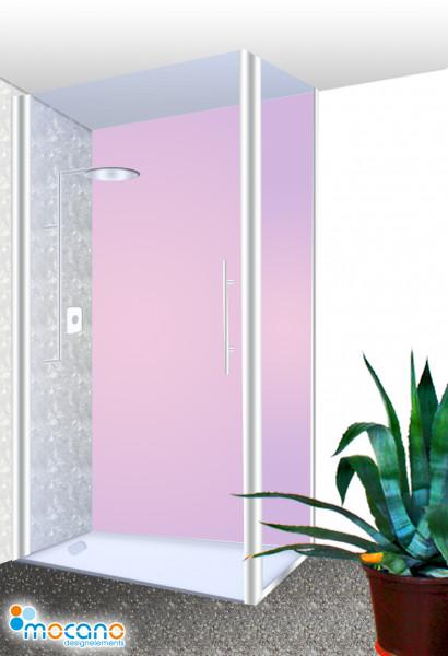 Duschrückwand Hell Violett einfarbig UNI - Wohnbeispiel
