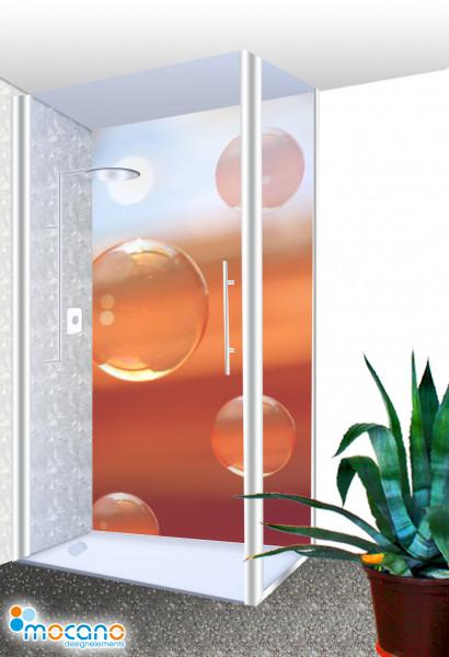 Duschrückwand - Water Bubbles 4 / Seifenblasen Wohnbeispiel