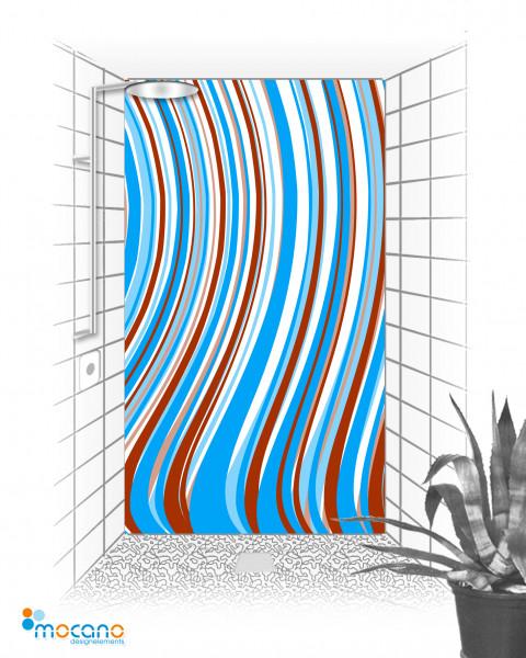 Duschrückwand Blue Line 120x210cm - Wohnbeispiel