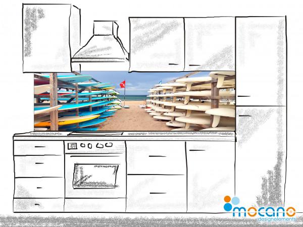 Küchenrückwand Beach Day 200x60cm - Wohnbeispiel