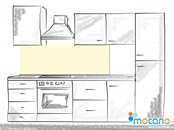 Küchenrückwand Beige einfarbig UNI 180x50cm - Wohnbeispiel