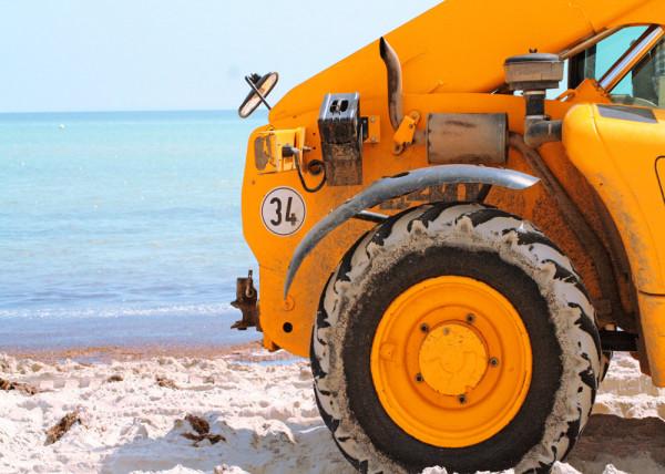 Beach Car 020 - Fototapete