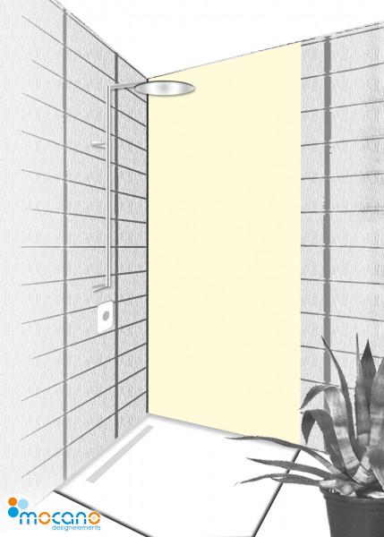Duschrückwand Beige 80x210cm einfarbig UNI - Wohnbeispiel