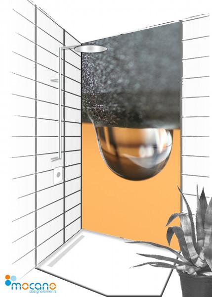 Duschrückwand Water Colour 90x210cm - Wohnbeispiel