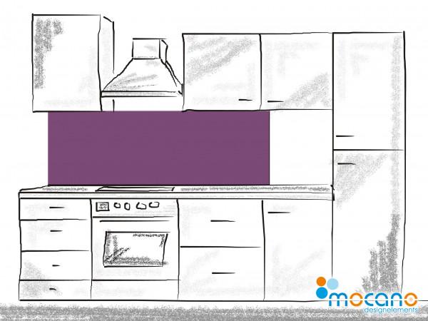 Küchenrückwand Lavendel einfarbig UNI 180x50cm - Wohnbeispiel