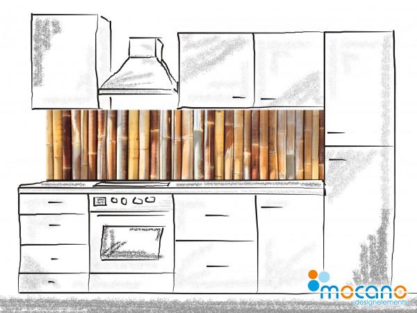 Küchenrückwand Bambus 200x50cm - Wohnbeispiel