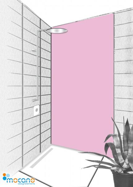 Duschrückwand Hell Violett 80x210cm einfarbig UNI - Wohnbeispiel