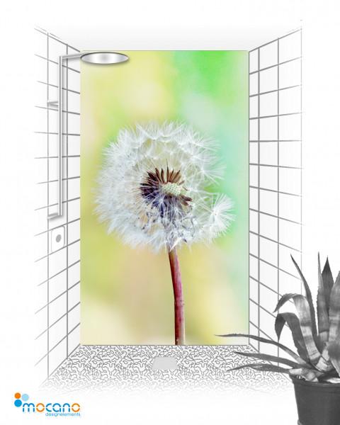 usteblume 120x210cm Duschrückwand - Wohnbeispiel