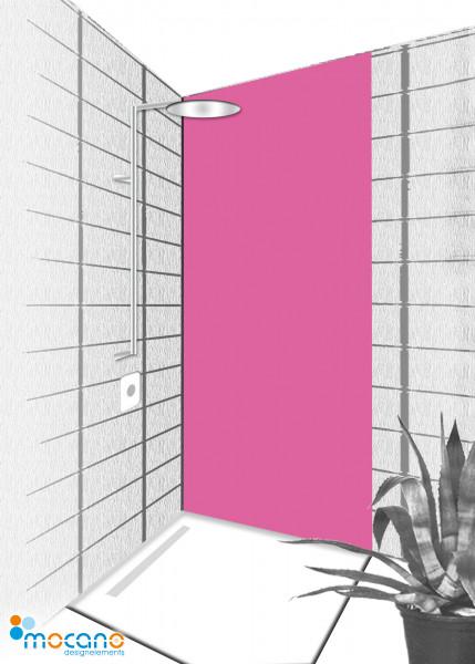 Duschrückwand Magenta 80x210cm einfarbig UNI - Wohnbeispiel