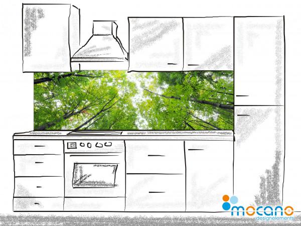Küchenrückwand Baumkronen 200x60cm - Wohnbeispiel