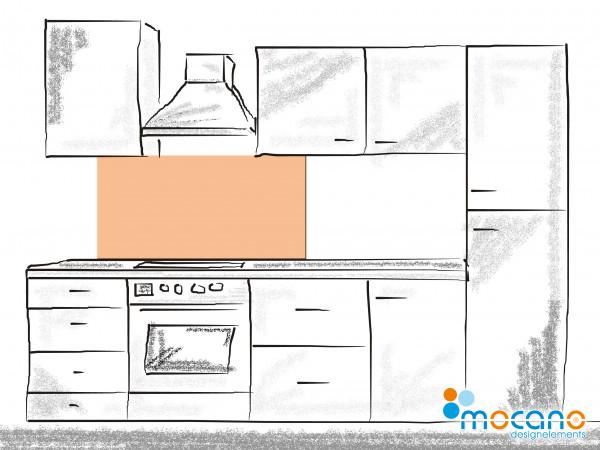 Küchenrückwand Salmon einfarbig UNI 120x50cm - Wohnbeispiel