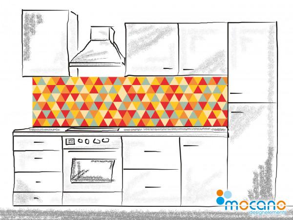 Küchenrückwand Retro Triangles 200x50cm - Wohnbeispiel