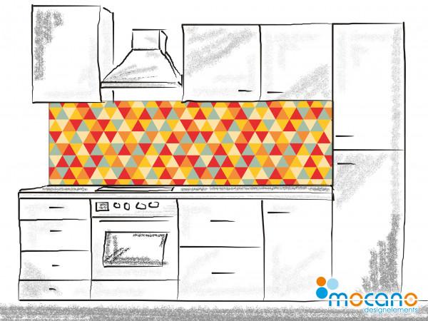 Küchenrückwand Retro Triangles - 200x60cm Wohnbeispiel