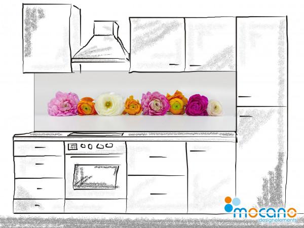 Küchenrückwand Blumentraum 200x60cm  - Wohnbeispiel