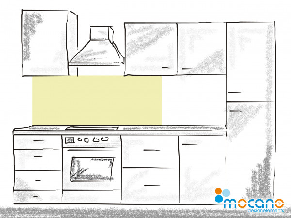Küchenrückwand Pistazie einfarbig UNI 150x50cm - Wohnbeispiel