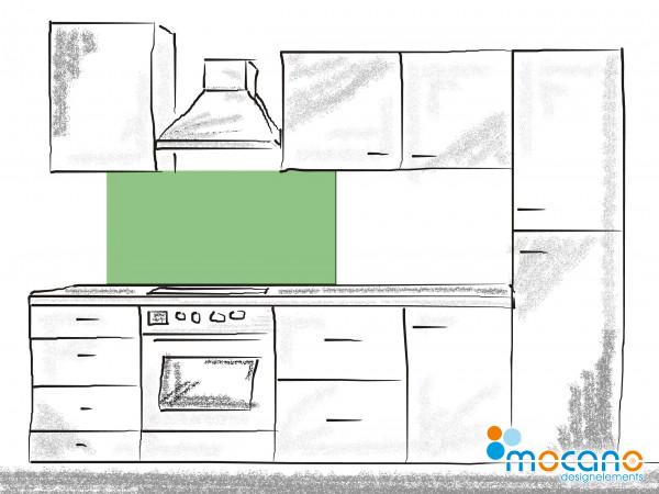 Küchenrückwand Avocado Grün einfarbig UNI 120x50cm - Wohnbeispiel
