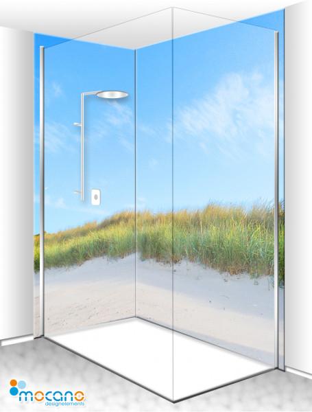 Duschrückwand Eck-Set Düne an der Ostsee 200x210cm - Wohnbeispiel
