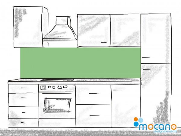Küchenrückwand Avocado Grün einfarbig UNI 200x50cm - Wohnbeispiel