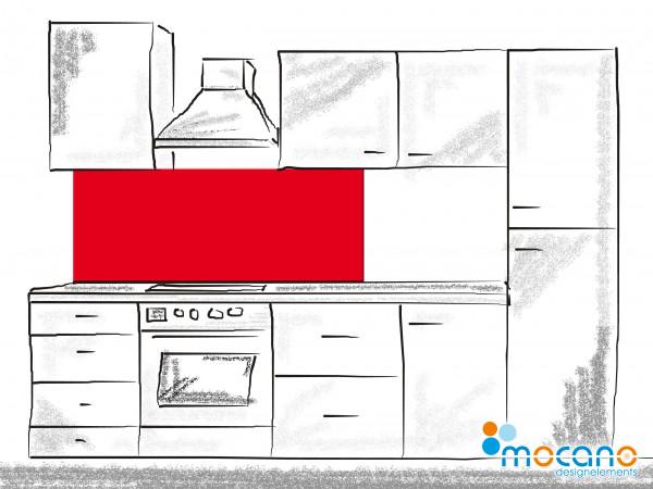Küchenrückwand Rot einfarbig UNI 150x50cm - Wohnbeispiel